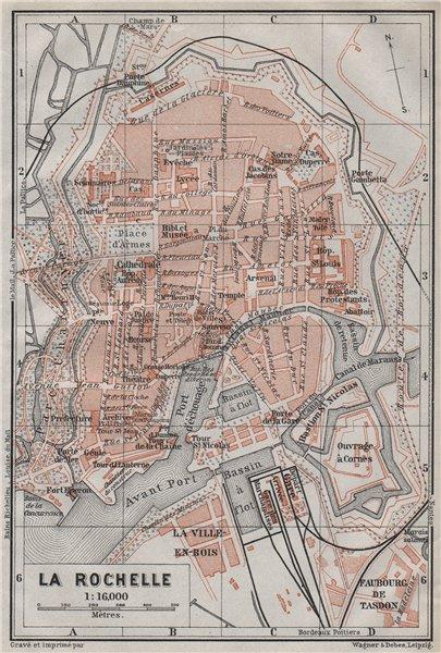 Associate Product LA ROCHELLE town city plan de la ville. Charente-Maritime carte 1907 old map