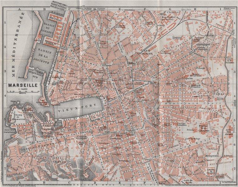 Associate Product MARSEILLES MARSEILLE town city plan de la ville. Bouches-du-Rhône 1907 old map