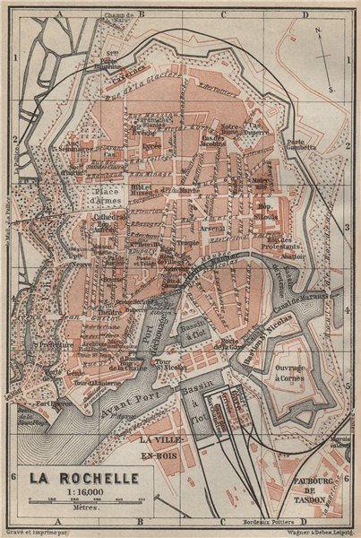 Associate Product LA ROCHELLE town city plan de la ville. Charente-Maritime carte 1914 old map