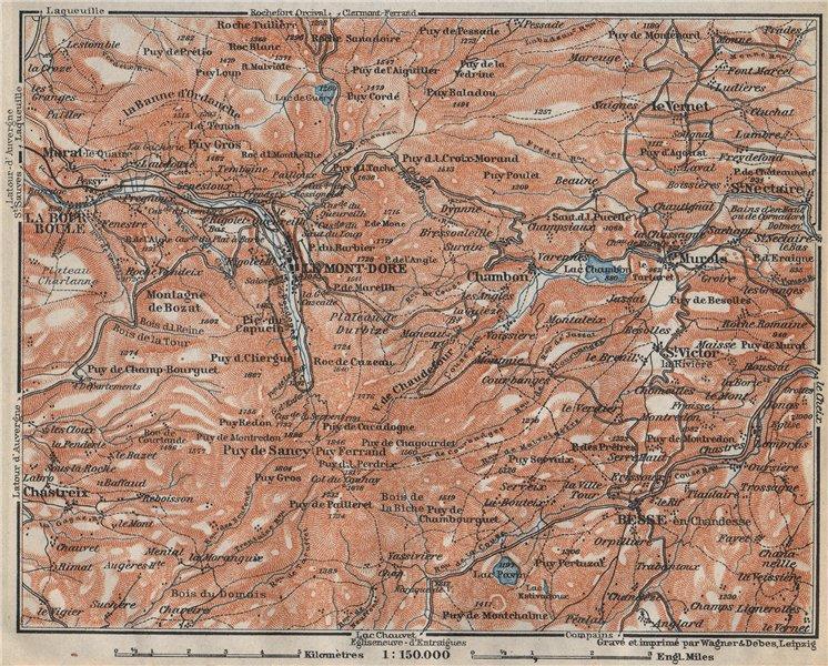 Associate Product LE MONT-DORE. Auvergne La Bourboule Sancy Besse Chambon. Puy-de-Dôme 1914 map