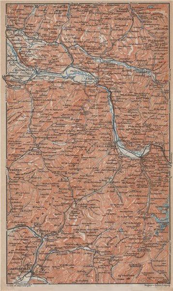 Associate Product HAUTE-SAVOIE. Chaine d'Aravis Albertville Sallanches Cluses Bonneville 1914 map