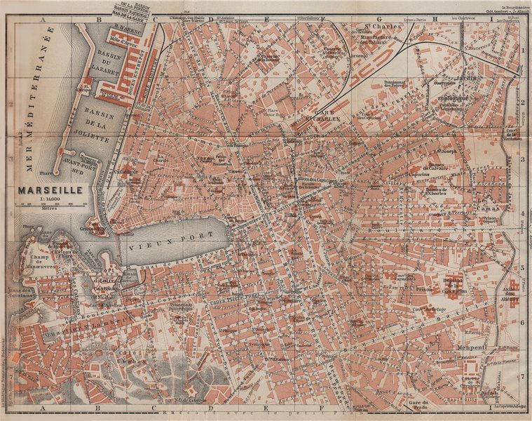 Associate Product MARSEILLES MARSEILLE town city plan de la ville. Bouches-du-Rhône 1914 old map