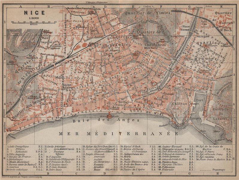 Associate Product NICE town city plan. Alpes-Maritimes. Cimiez Carabacel Vieille Ville 1914 map