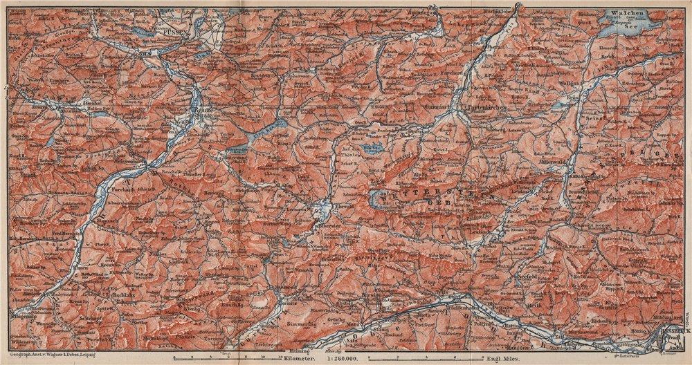 Associate Product NORTHERN LIMESTONE ALPS. Wetterstein Karwendel Lechtal Ammergau Alpen 1895 map
