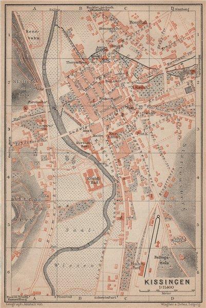 Associate Product BAD KISSINGEN town city stadtplan. Lower Franconia Bavaria Deutschland 1902 map