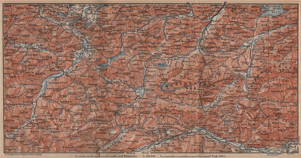 Associate Product NORTHERN LIMESTONE ALPS. Wetterstein Karwendel Lechtal Ammergau Alpen 1902 map