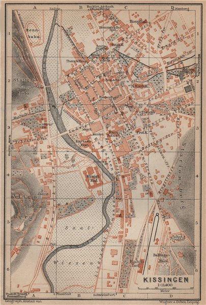 Associate Product BAD KISSINGEN town city stadtplan. Lower Franconia Bavaria Deutschland 1907 map
