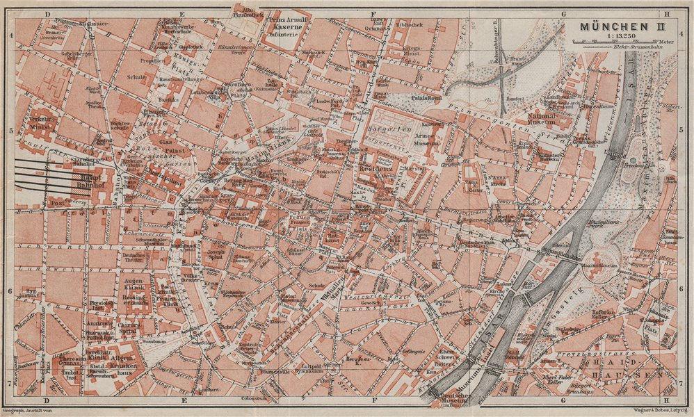 Associate Product MÜNCHEN MUNICH town city innere stadtplan. Munchen Öffentliche Gebäude 1910 map