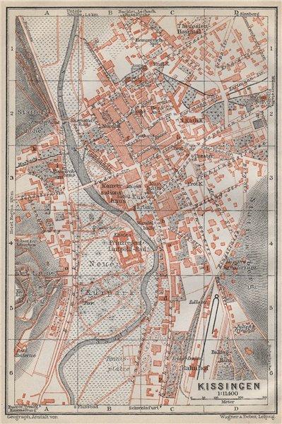 Associate Product BAD KISSINGEN town city stadtplan. Lower Franconia Bavaria Deutschland 1914 map