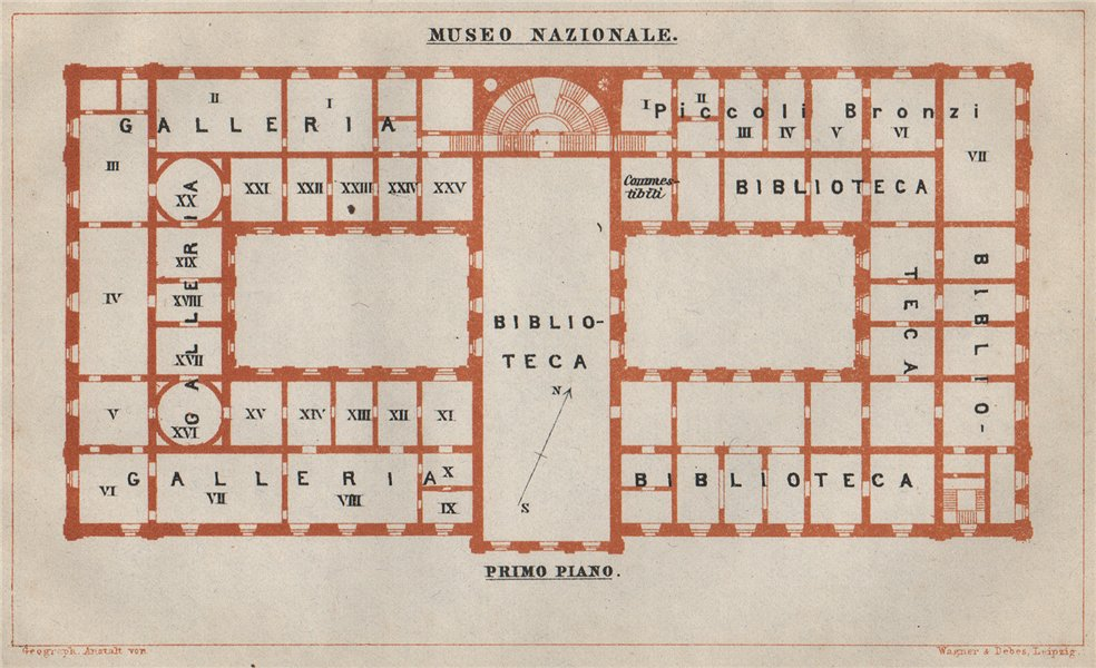 Associate Product MUSEO NAZIONALE ROMANO; PRIMO PIANO first floor plan. Rome mappa 1912 old
