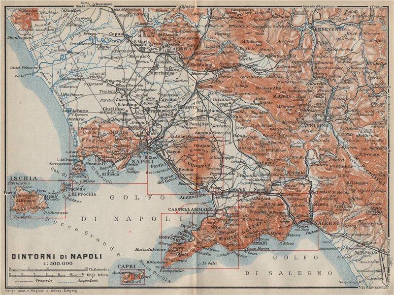 Associate Product Golfo di/DINTORNI DI NAPOLI. Bay of Naples & environs. Campania mappa 1912