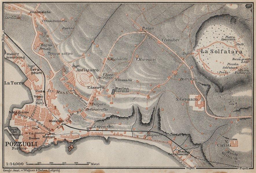 Associate Product POZZUOLI antique town city plan piano urbanistico. Italy mappa 1912 old