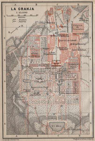 Associate Product Royal Palace/Palacio Real de LA GRANJA de San Ildefonso. Ground plan 1913 map