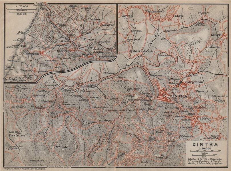 Associate Product CINTRA/SINTRA environs. Galamares Colares São Pedro de Penaferrim mapa 1913