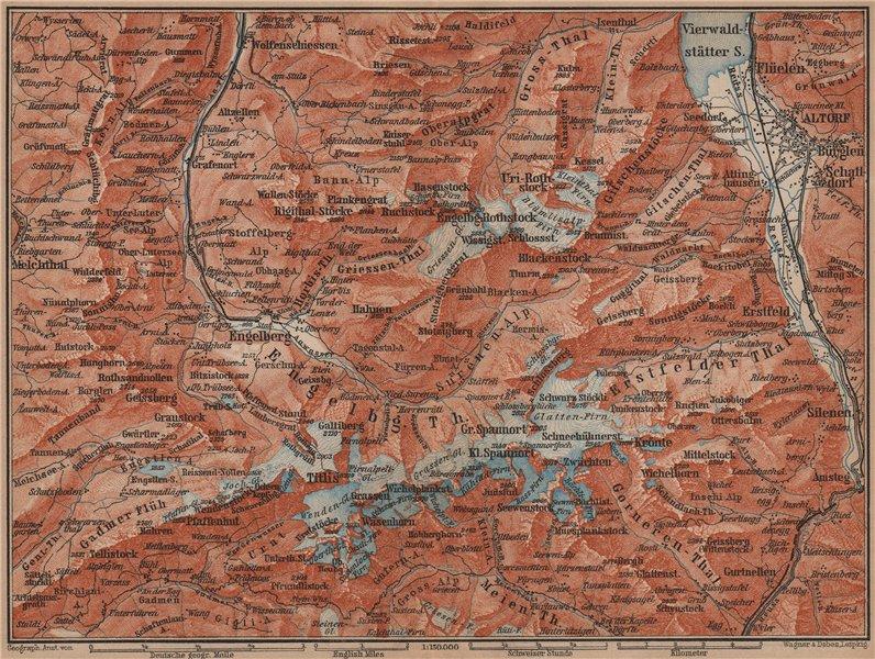 Associate Product ENGELBERG ENVIRONS. Uri/Urner Alps Titlis Blackenstock Sarnen Altorf 1899 map