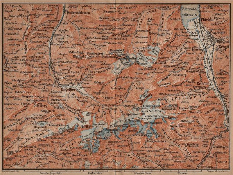 Associate Product ENGELBERG ENVIRONS. Uri/Urner Alps Titlis Blackenstock Sarnen Altorf 1901 map