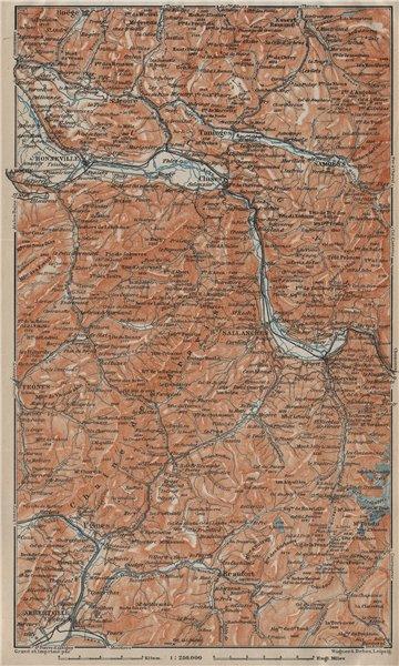 Associate Product HAUTE SAVOIE Samoëns Megève St Gervais Houches Flaine Les Gets Morzine 1920 map