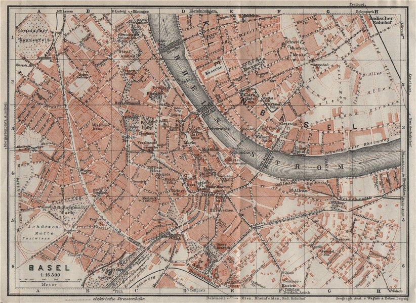 Associate Product BÂLE BASEL. Basle. town city stadtplan. Switzerland Suisse Schweiz 1928 map