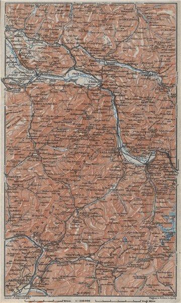 Associate Product HAUTE SAVOIE Samoëns Megève St Gervais Houches Flaine Les Gets Morzine 1928 map