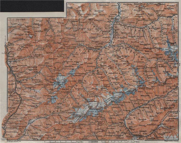 Associate Product ZILLERTALER ALPEN ALPS. Mayrhofen Matrei Steinach. Tyrol/Südtirol 1923 old map