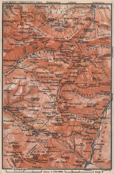 Associate Product SCHLERN-ROSENGARTEN GROUP. Sciliar-Catinaccio Südtirol Welschnofen 1923 map
