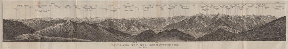 Associate Product PANORAMA from/vom SCHMITTENHÖHE. Kitzbühler Alpen Tirol Österreich 1923 map