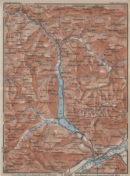 Associate Product ACHENSEE & environs. Jenbach Achenkirch. Topo-map. Austria Österreich 1927