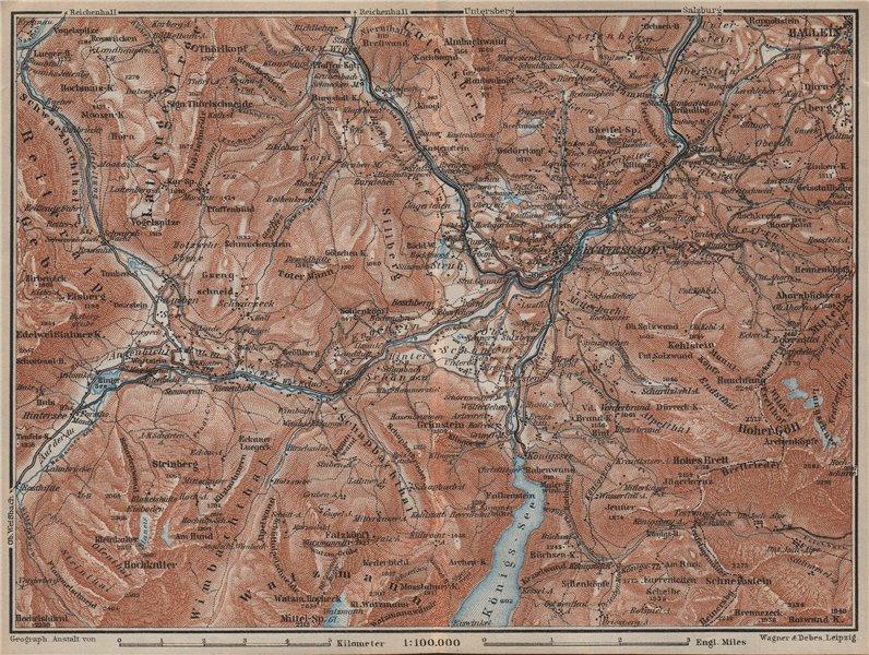 Associate Product BERCHTESGADEN environs topo-map. Hallein Bayern Berchtesgadener Land 1927