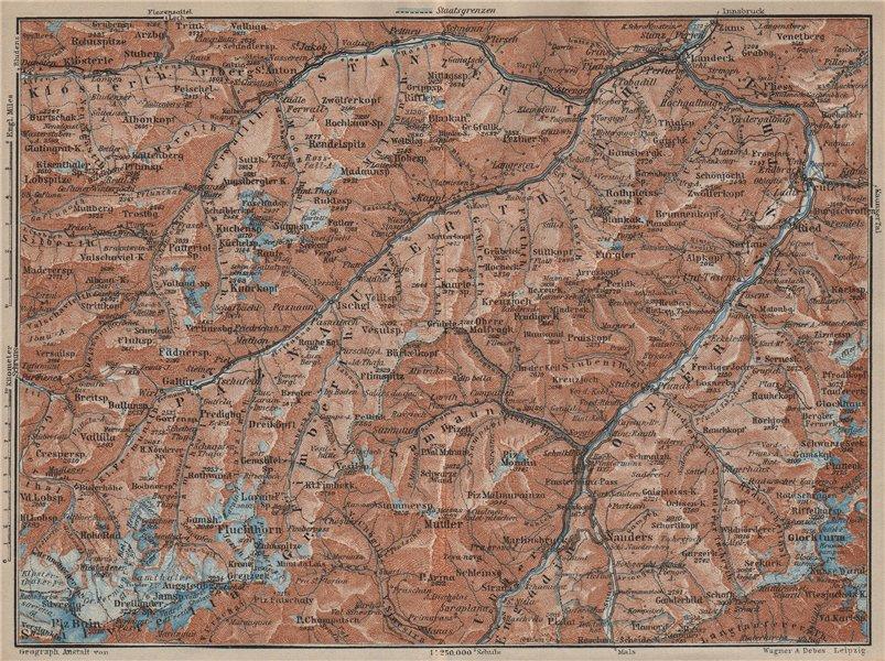 Associate Product SAMNAUNGRUPPE VERWALLGRUPPE Paznauntal Oberinntal St Anton Ischgl 1927 old map