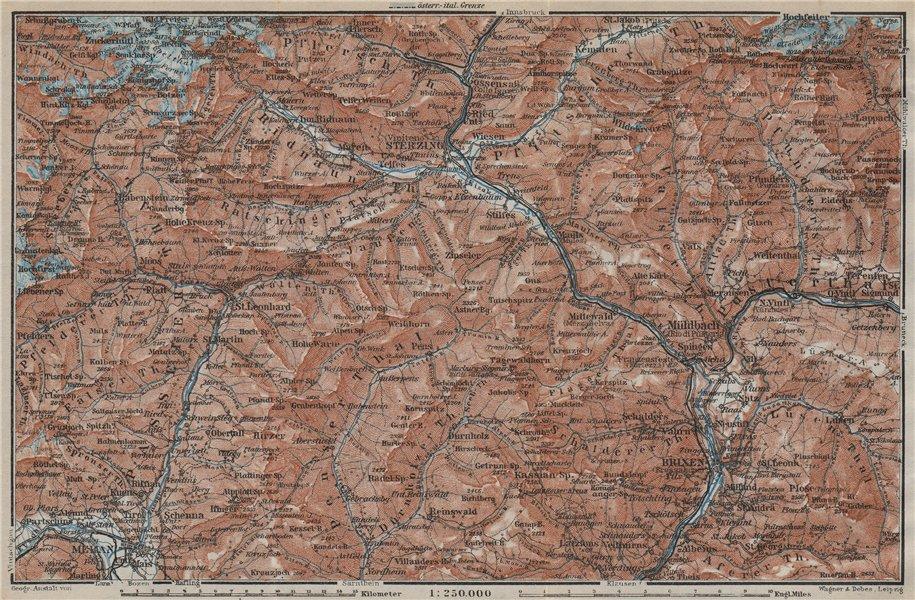 Associate Product STERZING & BRIXEN environs Wipptal Vipiteno Bressanone Merano Südtirol 1927 map