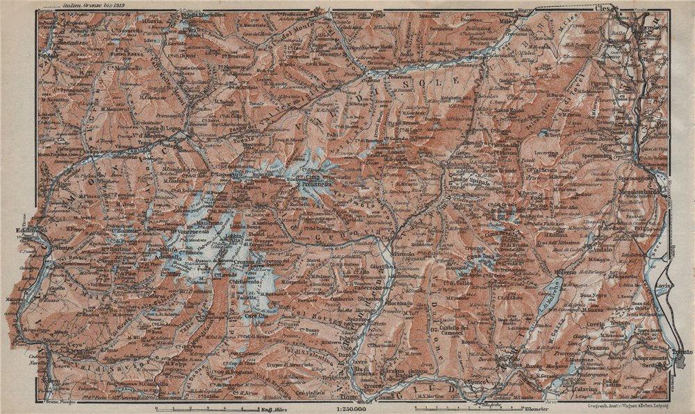 Associate Product ADAMELLO BRENTA DOLOMITI. Pinzolo Ponte di Legno Madonna di Campiglio 1927 map