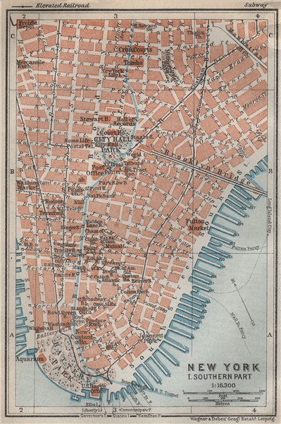 Associate Product LOWER MANHATTAN Financial District Tribeca Battery Park. NYC City plan 1909 map