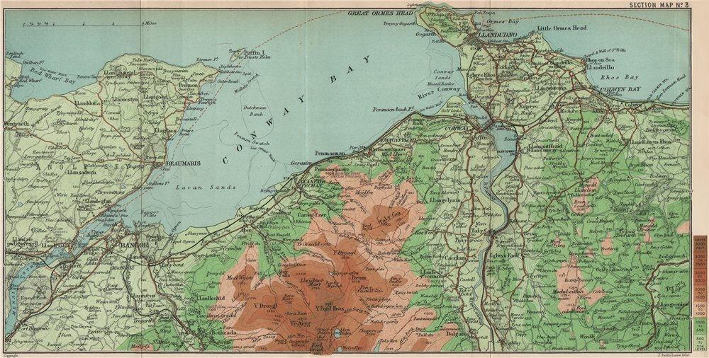 Associate Product CONWAY BAY. Llandudno Bangor Carneddau Snowdonia. BARTHOLOMEW 1902 old map