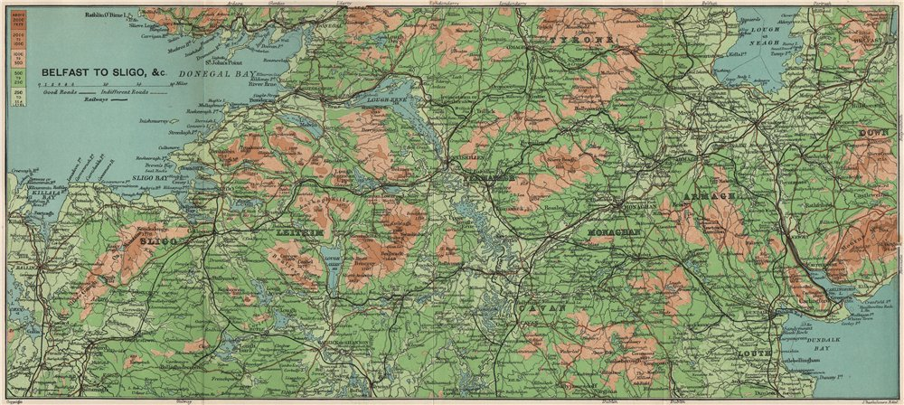 Map Of Ireland Cavan.Ireland Central Tyrone Leitrim Sligo Cavan Monaghan Armagh Louth