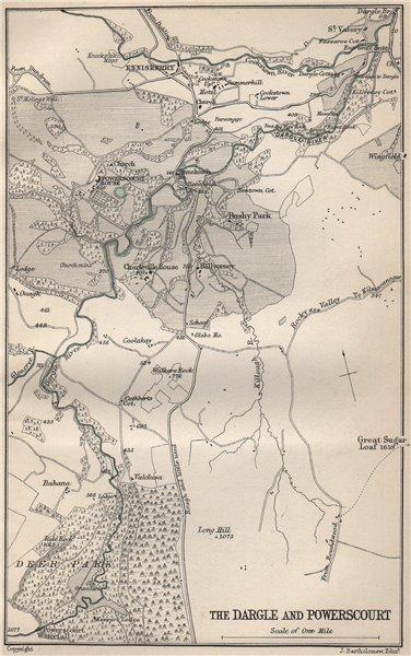 Associate Product The Dargle and Powerscourt. Ireland. BARTHOLOMEW 1901 old antique map chart