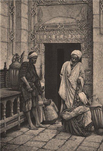 Associate Product Cairo Arabs. Egypt 1885 old antique vintage print picture
