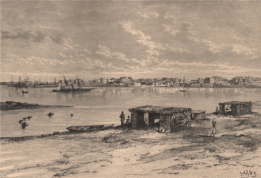 General view of Suakin. Sudan 1885 old antique vintage print picture