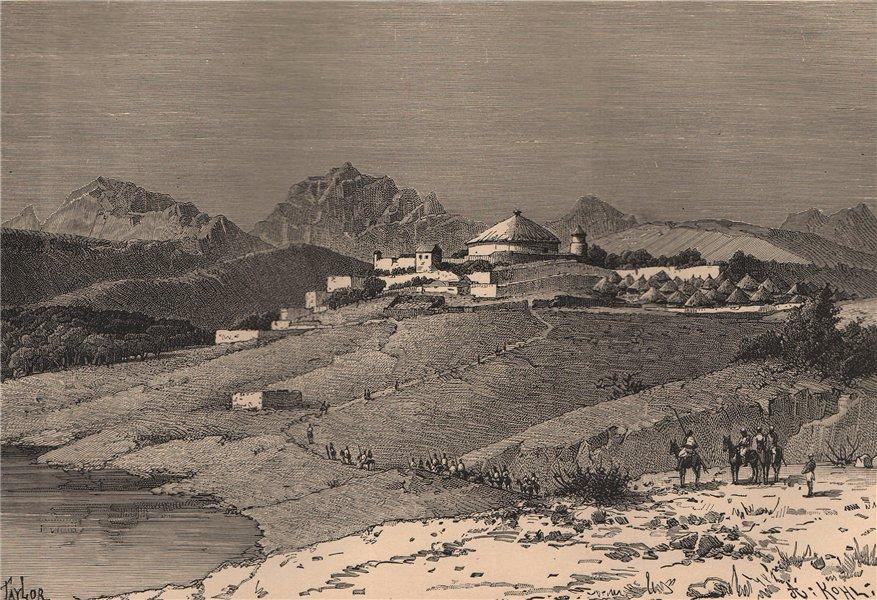 Associate Product Adwa, Capital of Tigré. Ethiopia 1885 old antique vintage print picture