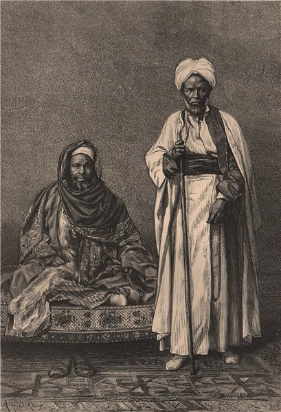 Associate Product Kadi of Khartoum and Hadendoa Sheikh. Africa 1885 old antique print picture