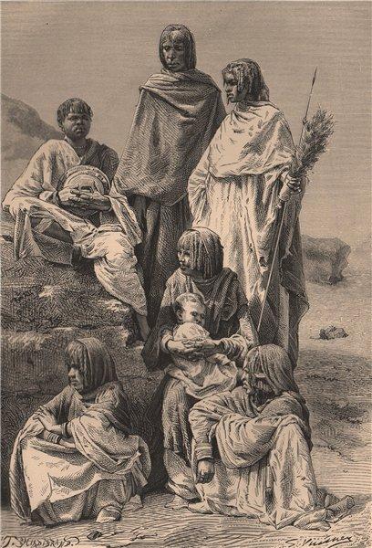 Associate Product Group of Nubian women. Egypt Sudan 1885 old antique vintage print picture