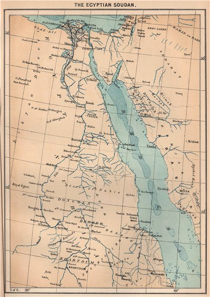Associate Product The Egyptian Sudan. Middle East Africa 1885 old antique vintage map plan chart