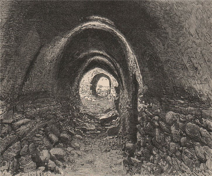 Associate Product Underground passage at Mehendi, near Maharraqa, Nubia. Egypt 1885 old print