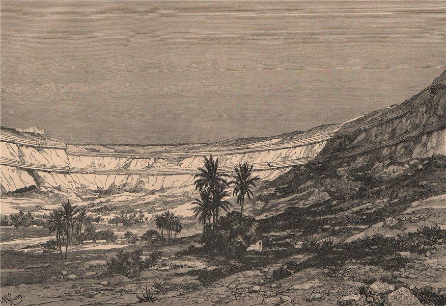 Associate Product The Kasr-el-Jebel Cirque. Libya 1885 old antique vintage print picture