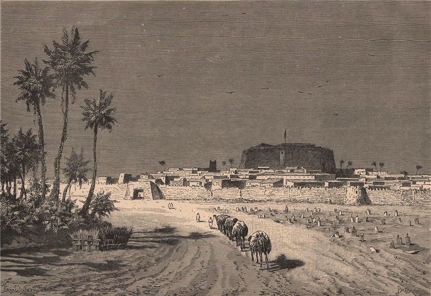Associate Product General view of Murzuq. Libya. Fezzan 1885 old antique vintage print picture