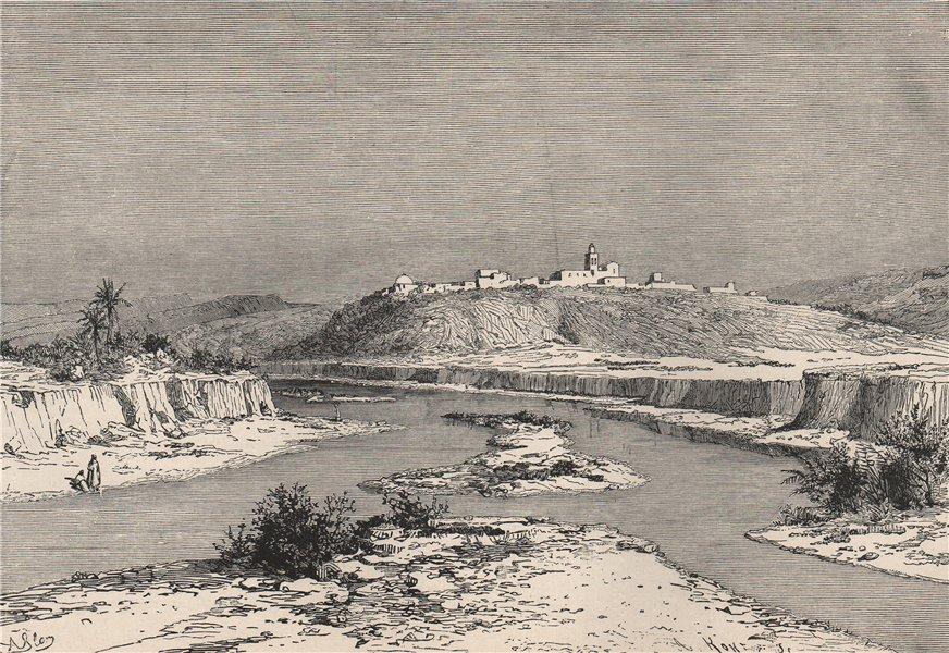 Associate Product The Medjerda at Slugia, above Mejez-el-Bab. Tunisia 1885 old antique print
