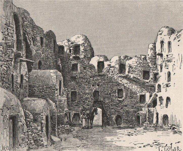 Associate Product Houses at Kasr El-Mudenin (Medenine) Tunisia. Star Wars location 1885 print