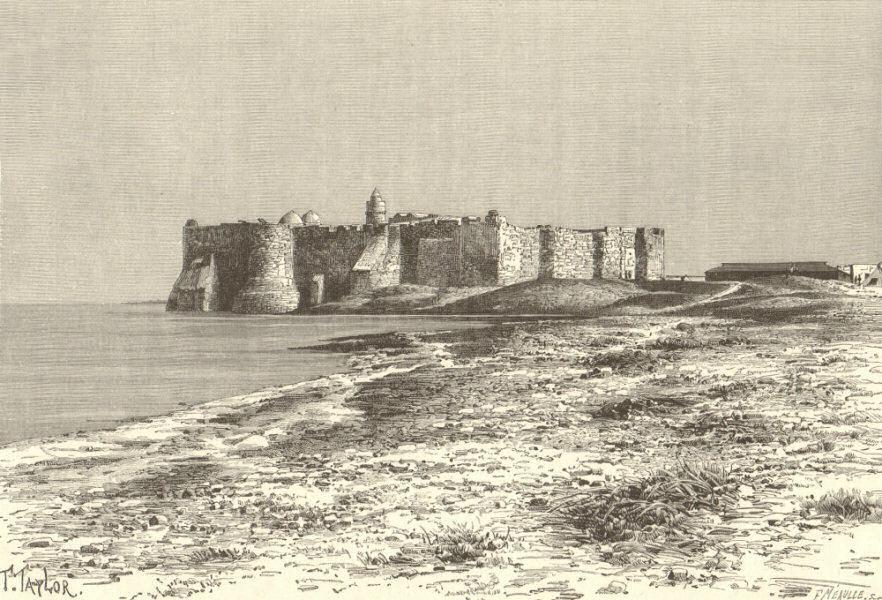 Associate Product Djerba Island. Castle near Humt Suk. Tunisia 1885 old antique print picture