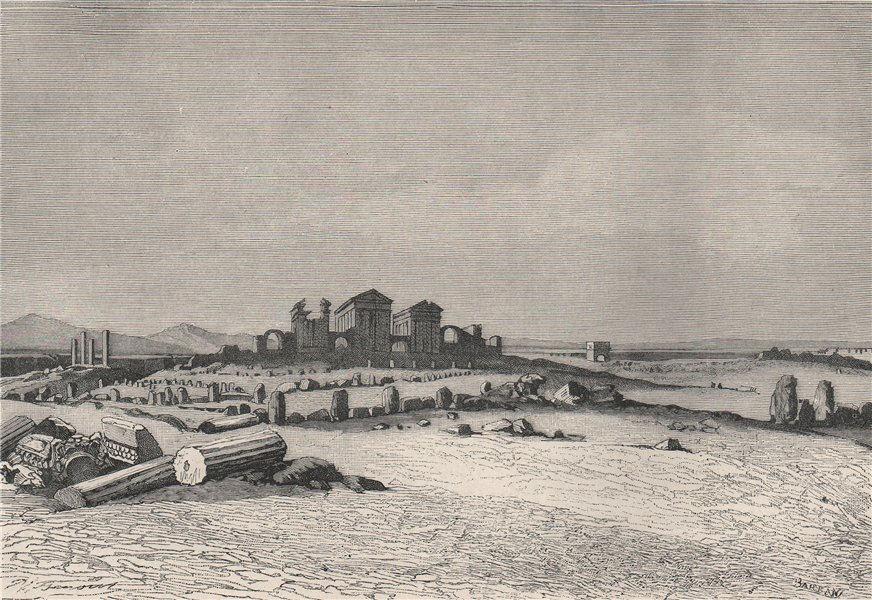 Associate Product Roman ruins of Sbeitla, ancient Sufetula. Tunisia 1885 old antique print