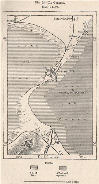 Associate Product La Goletta. La Goulette, Tunis. Tunisia 1885 old antique map plan chart