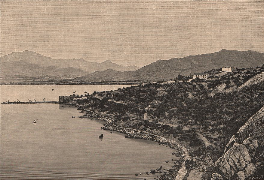 Associate Product View of the Gulf of Stora. Skikda. Algeria 1885 old antique print picture